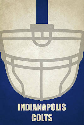 Painting - Indianapolis Colts Helmet Art by Joe Hamilton