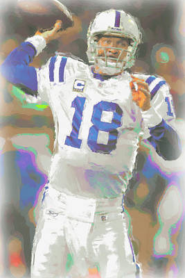 Peyton Manning Photograph - Indianapolis Colts Peyton Manning 2 by Joe Hamilton