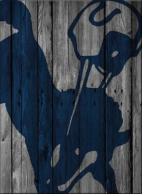 Photograph - Indianapolis Colts Wood Fence by Joe Hamilton