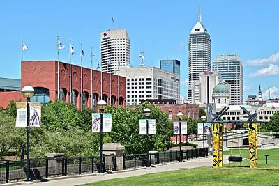 The 500 Photograph - Indianapolis From The Park by Frozen in Time Fine Art Photography