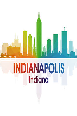 Indiana Landscapes Digital Art - Indianapolis In 1 Vertical by Angelina Vick