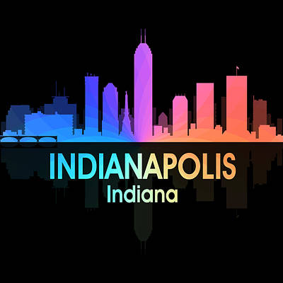 Indianapolis Mixed Media - Indianapolis In 5 Squared by Angelina Vick