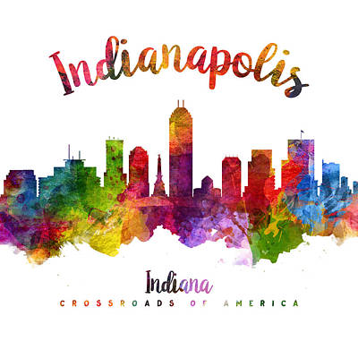 Indianapolis Indiana 23 Print by Aged Pixel