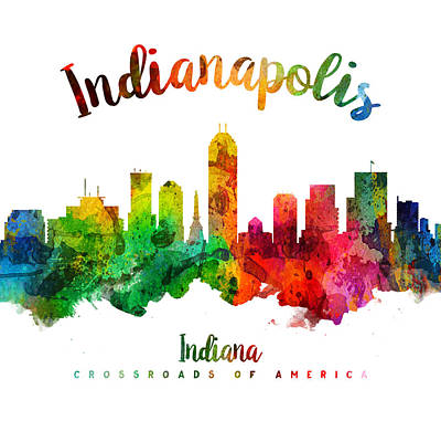 Indianapolis Indiana 24 Print by Aged Pixel