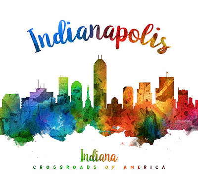 Indianapolis Indiana 25 Print by Aged Pixel
