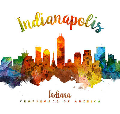 Indianapolis Indiana 26 Print by Aged Pixel