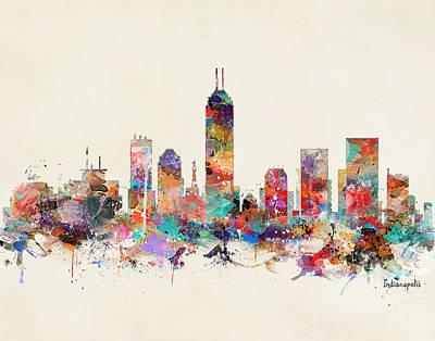 Painting - Indianapolis Indiana  by Bri B
