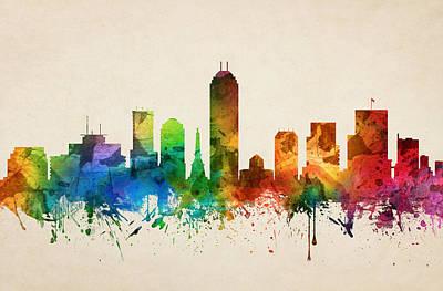 Indianapolis Indiana Skyline 05 Art Print