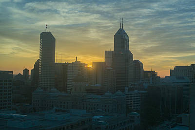 Photograph - Indianapolis Indiana Skyline 19fa by David Haskett