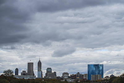 Photograph - Indianapolis Indiana Skyline 300 by David Haskett
