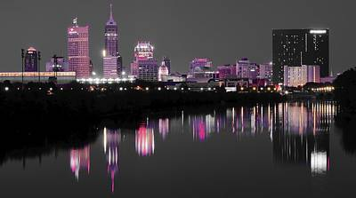Photograph - Indianapolis Lights Up Nicely by Frozen in Time Fine Art Photography