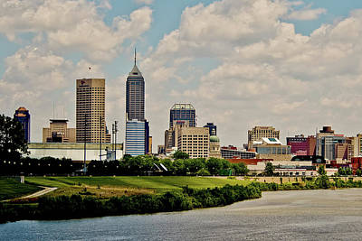 Photograph - Indianapolis Skyline 25 by David Haskett