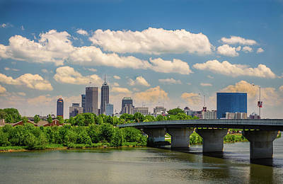 Indiana Photograph - Indianpolis Skyline by Ken Cave