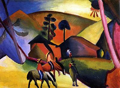 Painting - Indians On Horses by August Macke