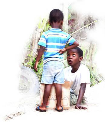 Photograph - Indigenous Caribbean Kids In Panama by Tatiana Travelways