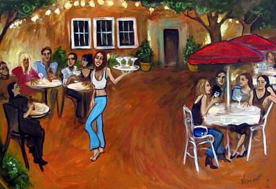 Indigo Alley Original by Valerie Vescovi