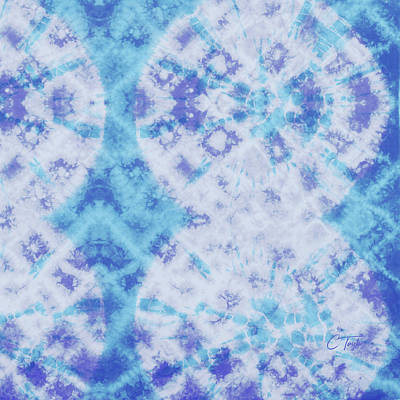 Tapestries - Textiles Tapestry - Textile - Indigo And Teal by Colleen Taylor