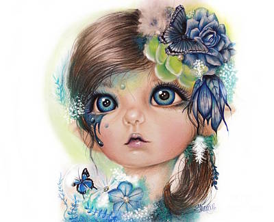 Mixed Media - Indigo - Butterfly Keeper - Munchkinz By Sheena Pike  by Sheena Pike