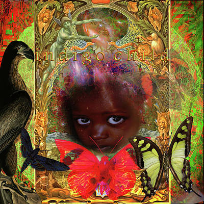 Digital Art - Indigo Children by Joseph Mosley
