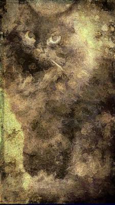 Digital Art - Indigo Emerges by Debbie Smith