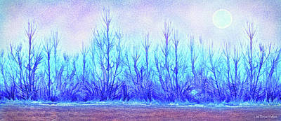 Digital Art - Indigo Forest by Joel Bruce Wallach