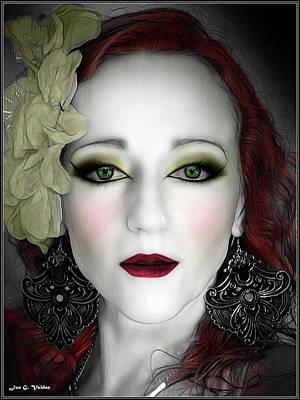 Photograph - Indigo Heather Portrait  by Jon Volden
