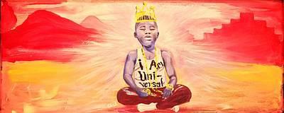 Painting - Indigo Melanin by Sean Ivy aka Afro Art Ivy