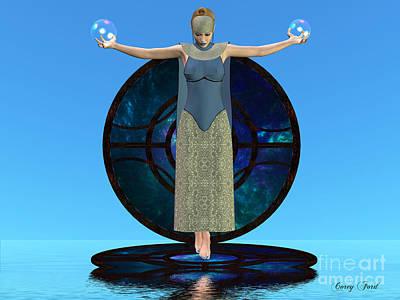 Reverie Digital Art - Indigo Mood by Corey Ford