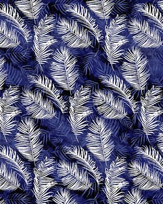 Digital Art - Indigo Palms by Tammy Wetzel