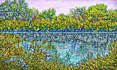 Digital Art - Indigo Pond - Lake In Boulder County Colorado by Joel Bruce Wallach