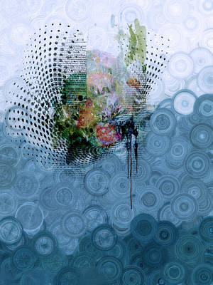 Mixed Media - Indigo Splash by Georgiana Romanovna