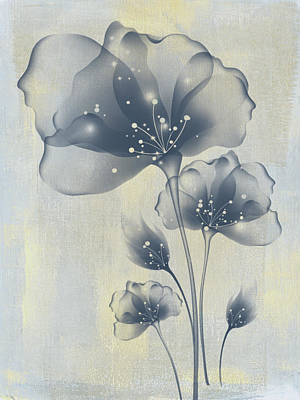 Mixed Media - Indigo Summer by Georgiana Romanovna