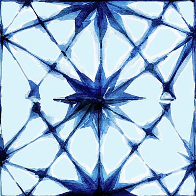 Digital Art - Indigo Textile 7 by Kimberly Potts