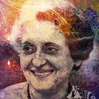 Digital Art - Indira by Barbara Berney