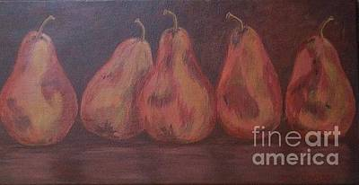 Painting - Individual Pears by Jeanie Watson