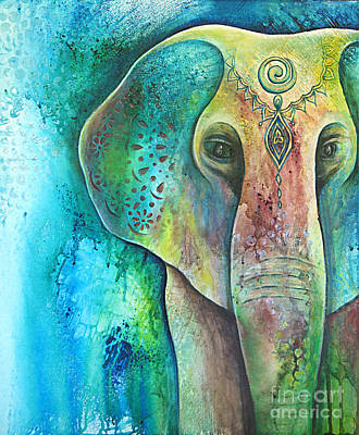 Painting - Sacred Elephant  by Reina Cottier