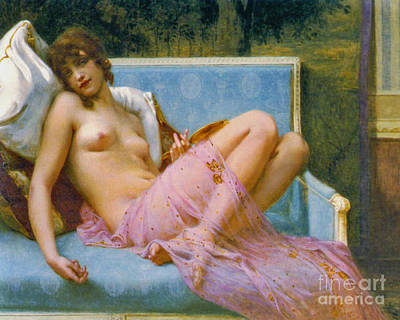 Odalisque Photograph - Indolence 1900 by Padre Art
