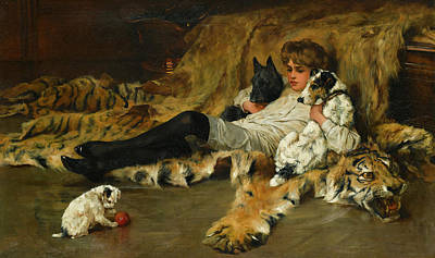 Sniffing Painting - Indolence by Arthur Wardle
