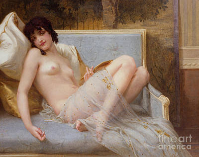 Female Bust Painting - Indolence by Guillaume Seignac