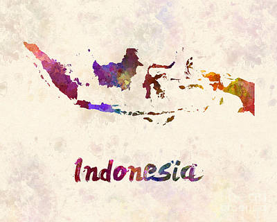 Southeast Asia Painting - Indonesia In Watercolor by Pablo Romero