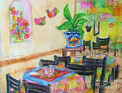 Indoor Cafe - Gifted Art Print