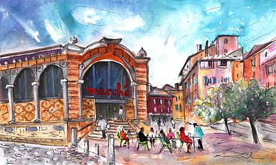 Indoor Market In Albi Art Print by Miki De Goodaboom