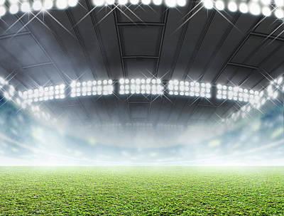 Stadium Digital Art - Indoor Stadium Generic by Allan Swart