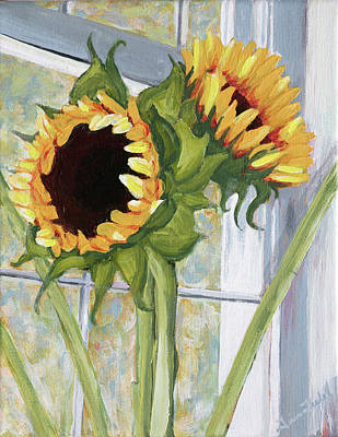 Indoor Sunflowers II Art Print