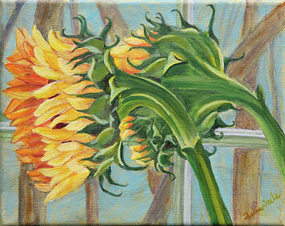 Indoor Sunflowers Art Print