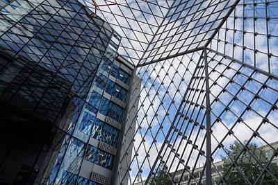 Gold Pattern - Indoors Outdoors Sky Geometry - Fabulous Modern Architecture in London U K by Georgia Mizuleva