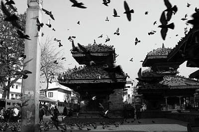 Photograph - Indrapur And Vishnu Temple, Durbar Square, Kathmandu by Aidan Moran