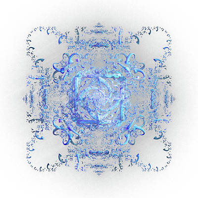 Digital Art - Indulgent Blue Lace by Rosalie Scanlon