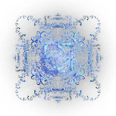 Digital Art - Indulgent Blue Lace by Rosalie Scanlon