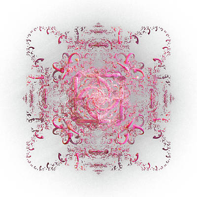 Digital Art - Indulgent Pink Lace by Rosalie Scanlon